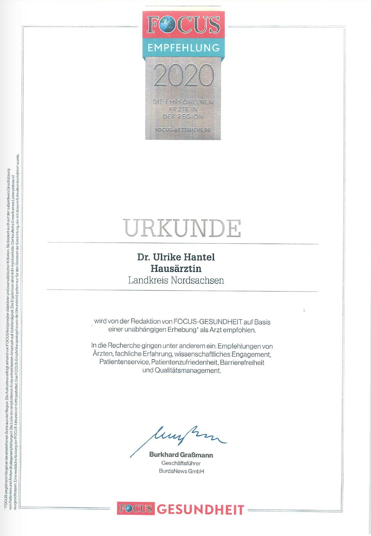 Dr. Hantel - Fachärztin für Innere Medizin und Diabetologie